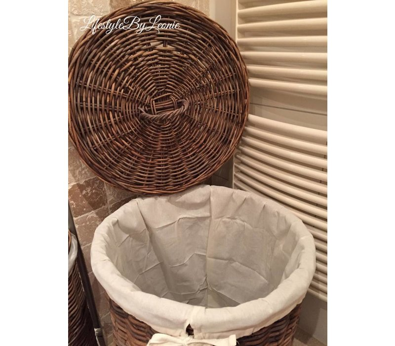 Ronde Design Wasmand.Lifestylebyleonie Rattan Ronde Wasmand Met Deksel Laundry 60 Cm Hoog