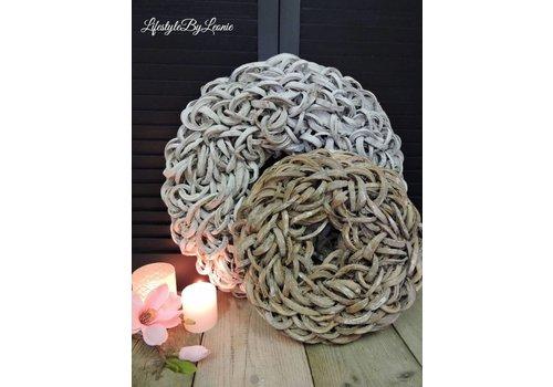 LifestyleByLeonie Krans Coco slice White 55 cm
