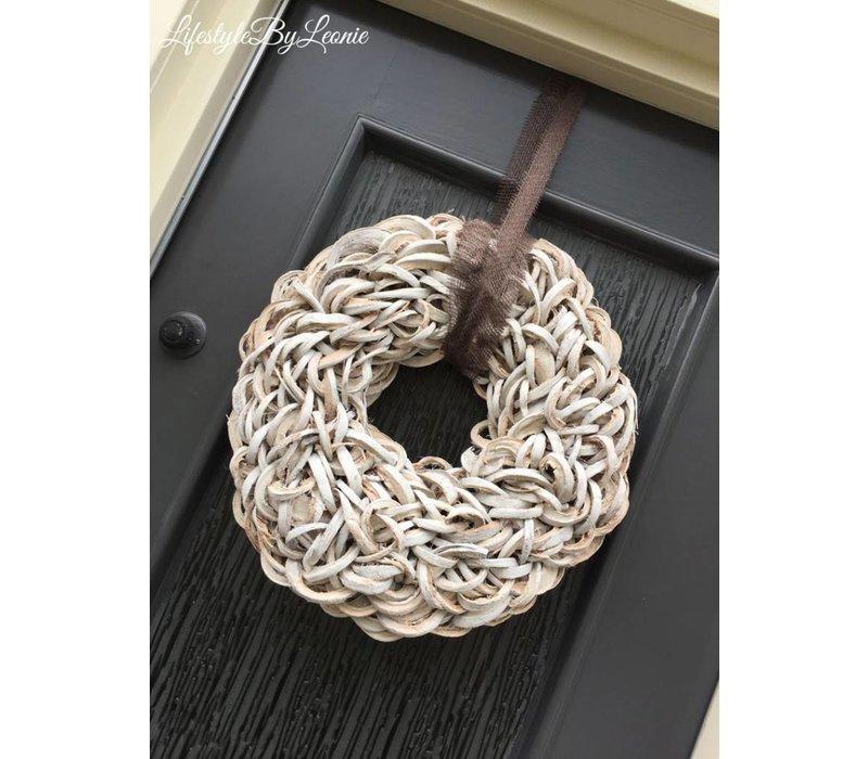 Krans Coco slice white 55 cm