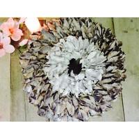 Krans Palm Petal white 25 cm