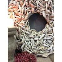 Krans Coco slice white 65 cm