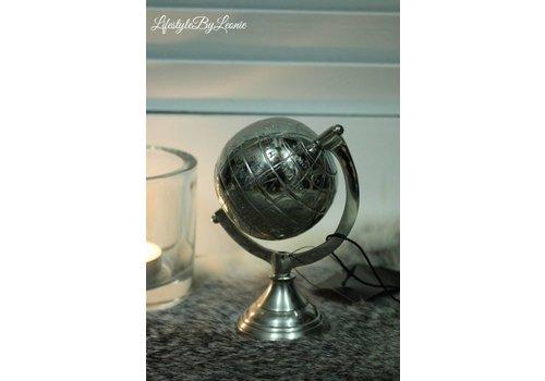 LifestyleByLeonie Aluminium wereldbol 12 cm