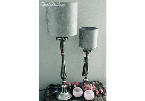 LifestyleByLeonie Lampenkap Silver luxury 30 cm