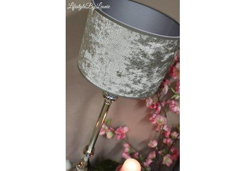 LifestyleByLeonie Hoge nikkel lampenvoet Gautam 73 cm