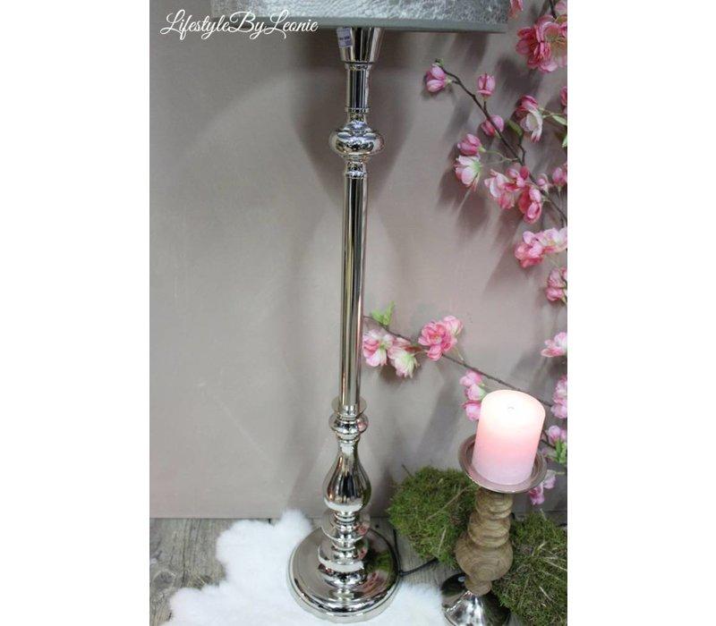 Hoge nikkel lampenvoet Gautam 73 cm