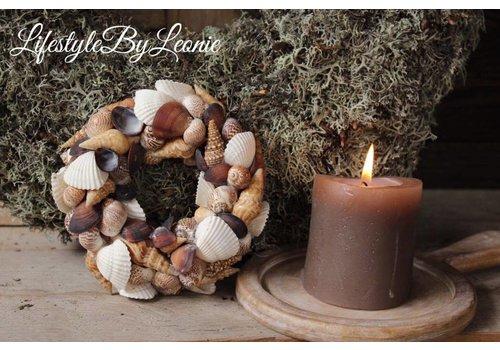 LifestyleByLeonie Schelpenkrans Mixed shells 15 cm