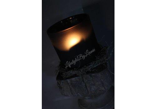 Dutz DUTZ cilinder windlicht smoke-black 14 cm