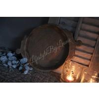 Authentieke Indiase houten schaal - maat S