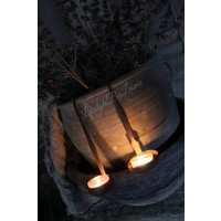 IJzeren oude waxine hanglepel