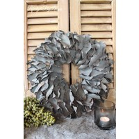 Krans Palm Petal Dark grey 40 cm