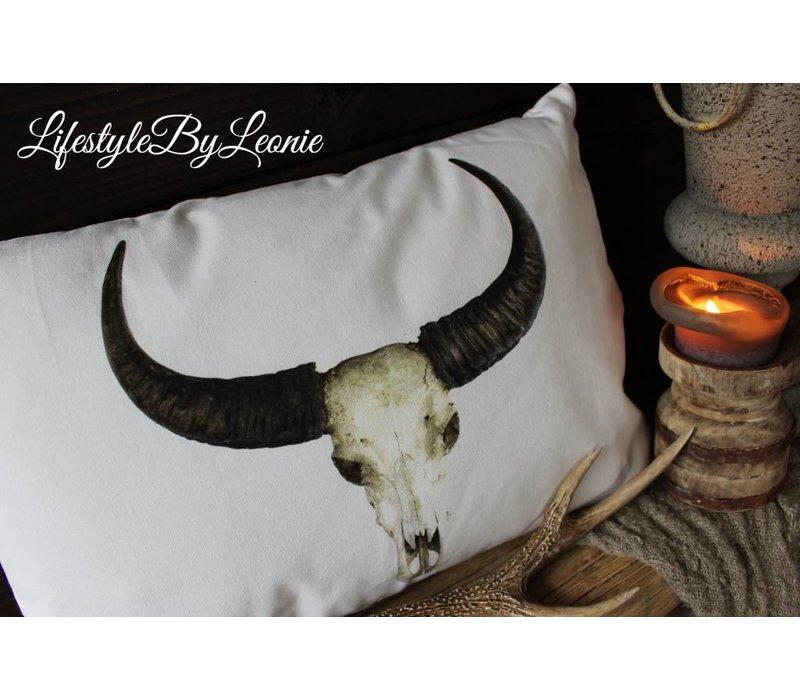 Canvas kussen Skull 50 cm