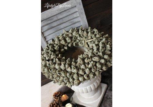 LifestyleByLeonie Krans Coco fruit Olive 40 cm