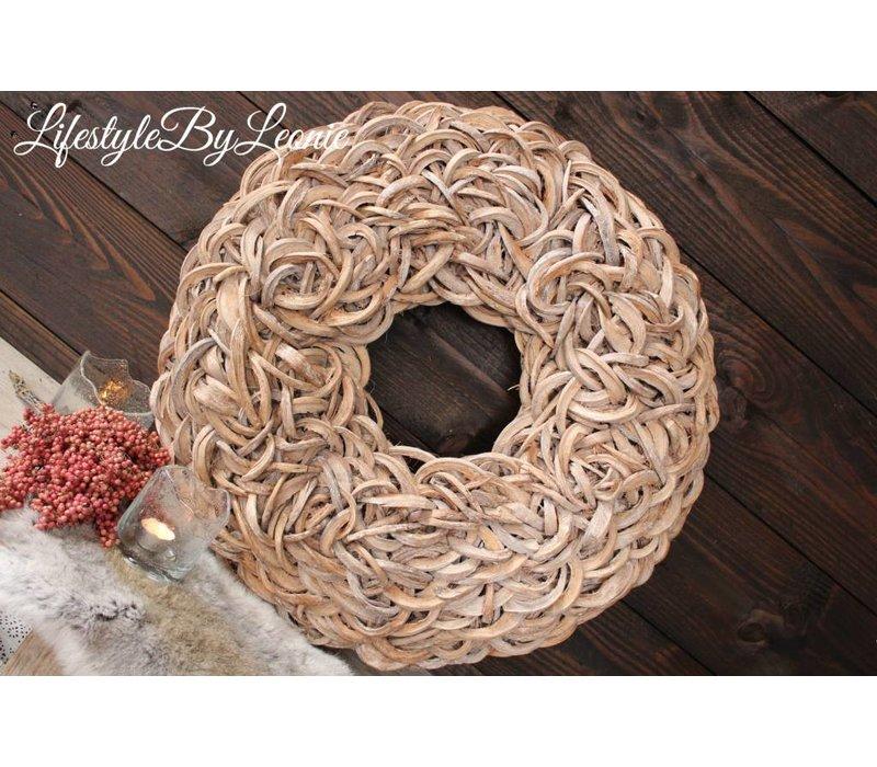 Krans Coco slice Naturel 65 cm