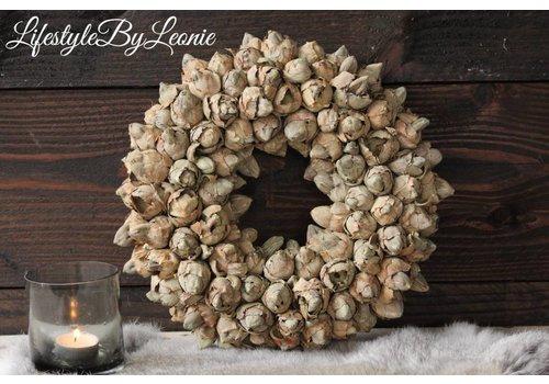 LifestyleByLeonie Krans Coco fruit Olive 30 cm