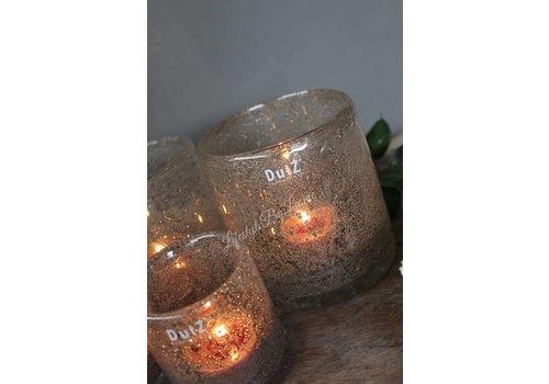 Dutz DUTZ cilinder windlicht met bubbels 10 cm