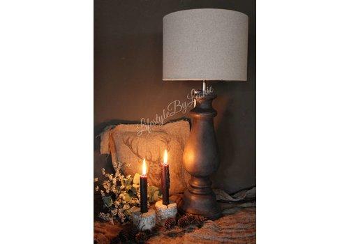 LifestyleByLeonie Cilinder lampenkap grof linnen naturel 25 cm