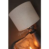 Cilinder lampenkap grof linnen naturel 25 cm