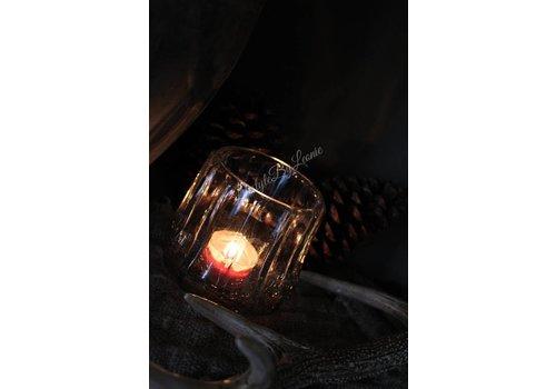LifestyleByLeonie Windlicht Enny zilver/goud 11 cm