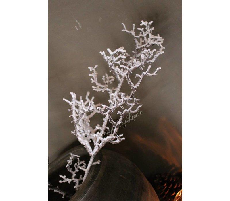 Grillige kunsttak met sneeuw 96 cm