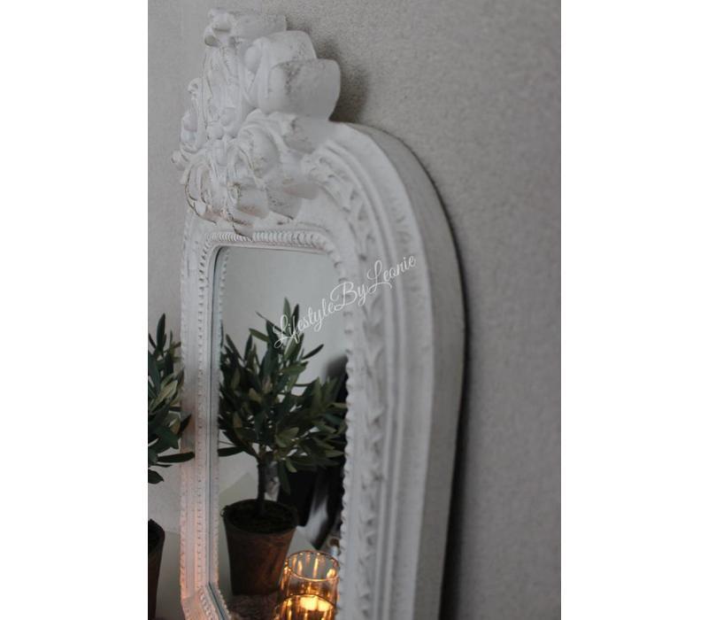 Kuifspiegel Old France white 78 cm
