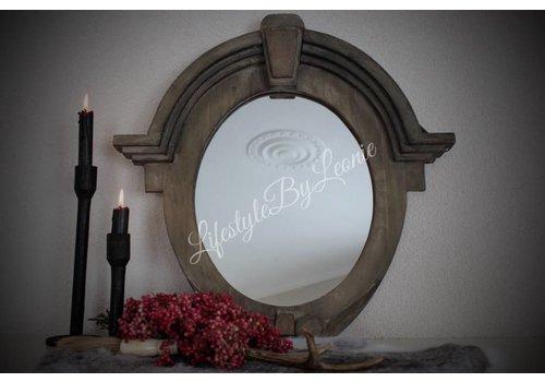LifestyleByLeonie Ossenoog spiegel Cedric Naturel wood 50 cm