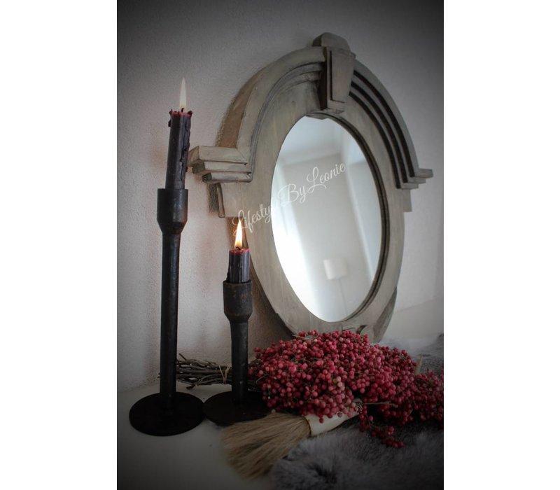 Ossenoog spiegel Cedric Naturel wood 50 cm