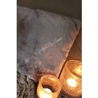 Kussen bont donkergrijs Soft fur 50 x 30 cm