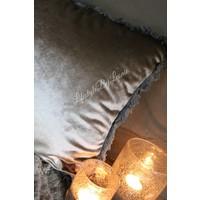 Kussen grijs groen Velvet 45 x 35 cm