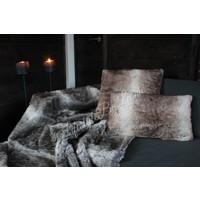 Bont plaid Bear bruin grijs 170 x 130 cm