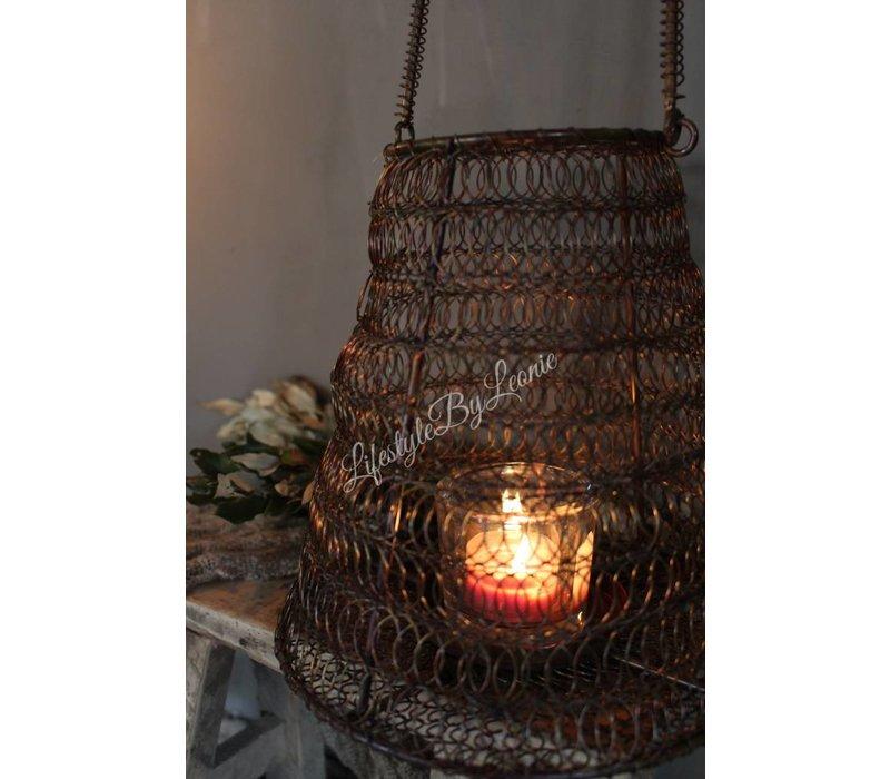 Draad lantaarn Roest 22 cm