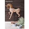 LifestyleByLeonie Houten paard ornament op standaard 40 cm