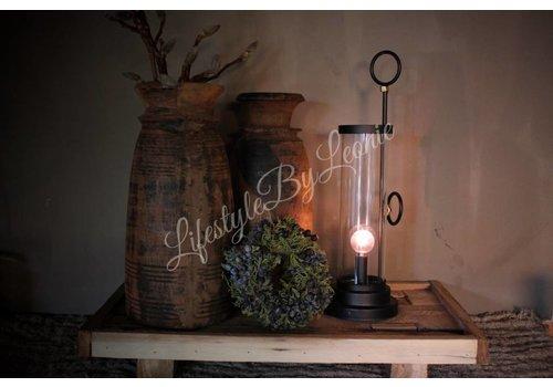 LifestyleByLeonie LED lamp kandelaar zwart| 33 cm