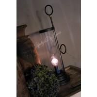 LED lamp kandelaar zwart 33 cm