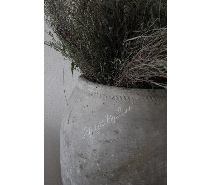 Oude stenen leem kruik - maat XXL