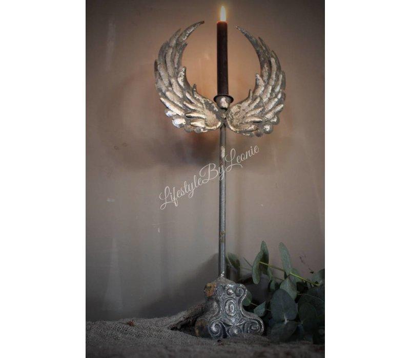 Hoge dinerkaars kandelaar Wings 55 cm