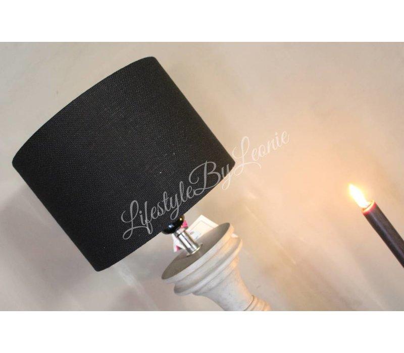 Cilinder lampenkap Black 20 cm