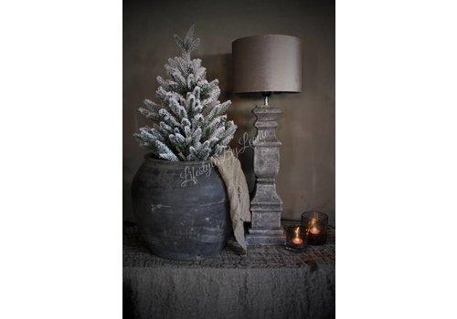 LifestyleByLeonie Grijze stenen baluster lampvoet  62 cm