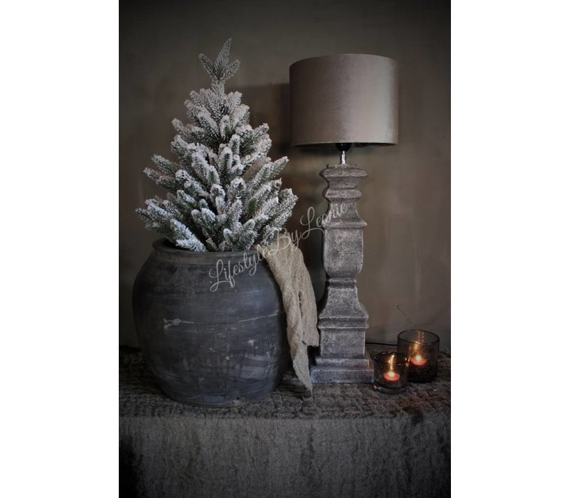 Grijze stenen baluster lampvoet  62 cm