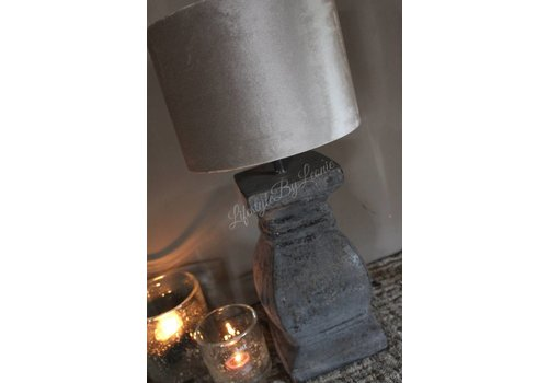 LifestyleByLeonie Stenen lampvoet Trophy bruin grijs
