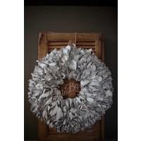Krans Palm Petal white 55 cm