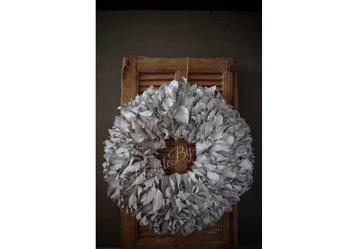 LifestyleByLeonie Krans Palm Petal White 55 cm