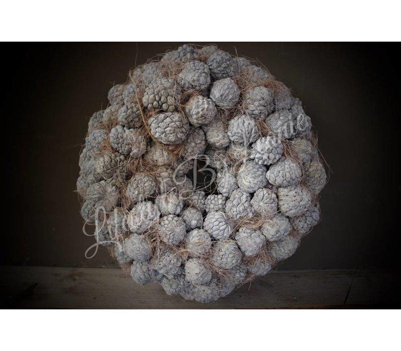 Krans Atafruit Whitewash 30 cm