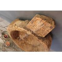 Zware authentieke Chapati schaal met handvat