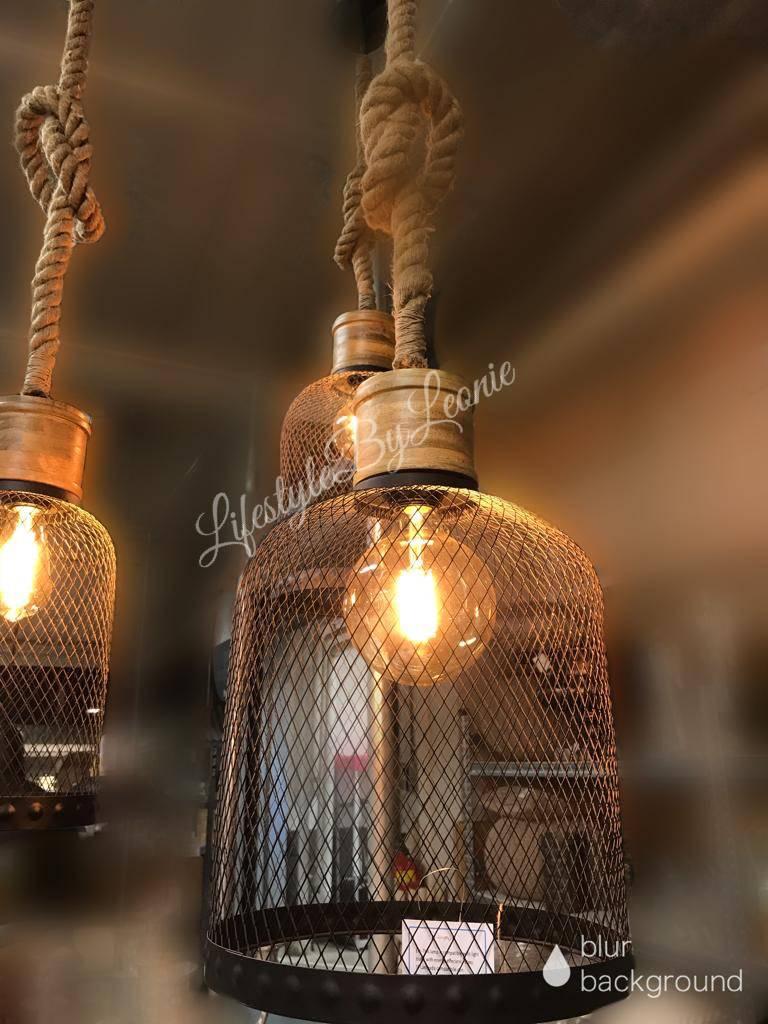 Hanglamp Met Touw.Lifestylebyleonie Hanglamp Zwart Draad Robuust Touw Maat M