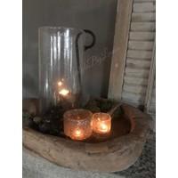 DUTZ cilinder windlicht met bubbels helder 40 cm