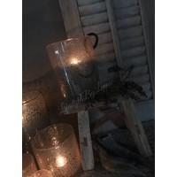 DUTZ cilinder windlicht met bubbels 25 cm