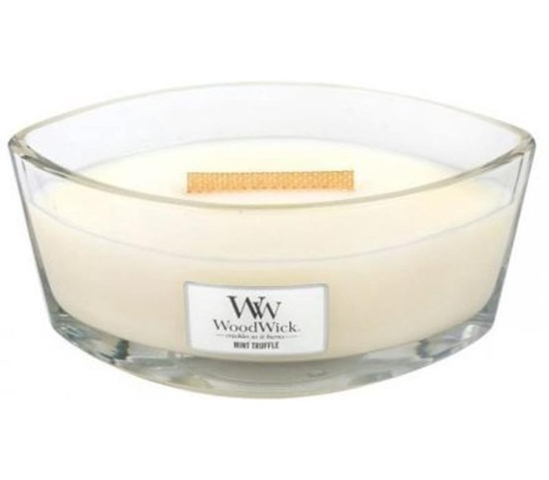 WoodWick Mint truffle hearthwick flame