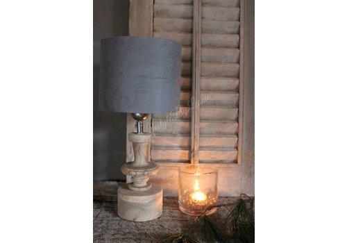 LifestyleByLeonie Cilinder lampenkap Suède grey 18 cm