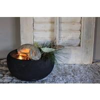 Ronde houten schaal Black