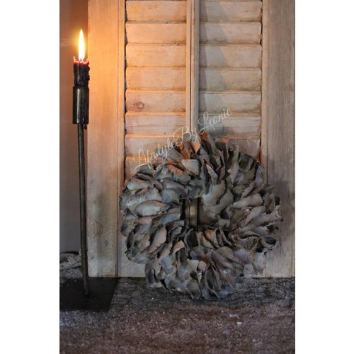 Krans Palm Petal Dark grey 25 cm